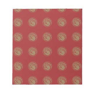 Fox god vintage pattern / japanese tradition color notepad