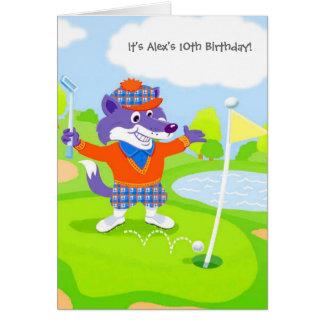 Fox golfing kids customizable invitations