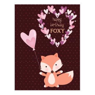 Fox Happy Birthday Foxy Postcard