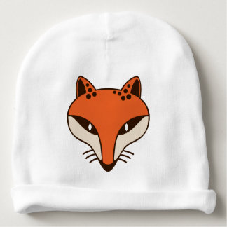 Fox Head Baby Beanie