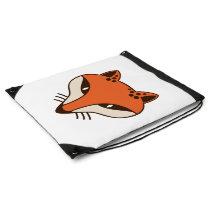 Fox Head Drawstring Bag