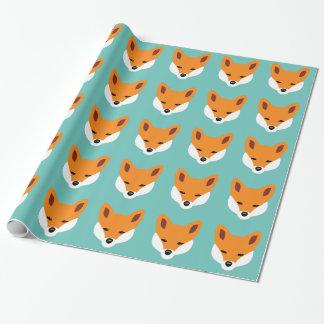 Fox hermoso papel de regalo