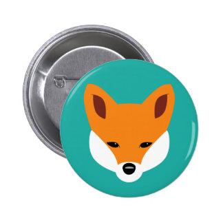 Fox hermoso pin redondo 5 cm