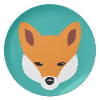 Fox hermoso plato de comida
