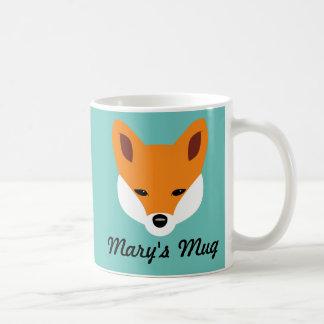 Fox hermoso taza básica blanca