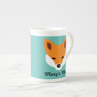 Fox hermoso taza de porcelana
