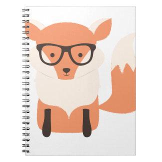Fox Hipster Spiral Notebook