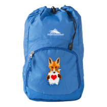 Fox holding a Heart – I Love You! Backpack