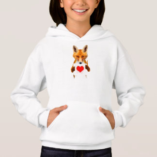 Fox holding a Heart – I Love You! Hoodie