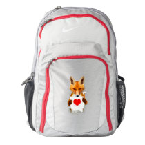 Fox holding a Heart – I Love You! Nike Backpack