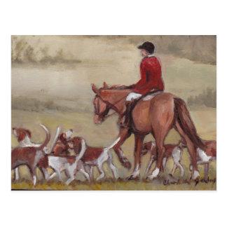 Fox Hunt Art Postcard
