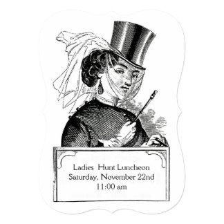 Fox Hunt Club Lady Lunch Party Vintage Equestrian Card