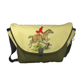 Fox Hunt Horse Hunter Jumper Horseback Riding Messenger Bags