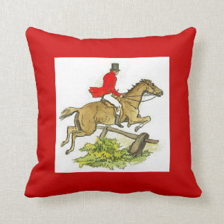 Fox Hunt Hunter Jumper Horse Horseback Riding Throw Pillow
