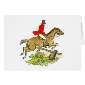 Horseback riding greeting cards zazzle fox hunt hunter jumper horseback riding trail card yadclub Choice Image