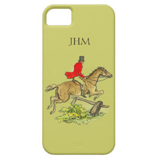 Fox Hunt Jumper Hunter Horse Custom Khaki Color iPhone 5 Covers
