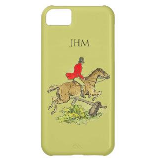 Fox Hunt Jumper Hunter Horse Custom Khaki Color iPhone 5C Covers