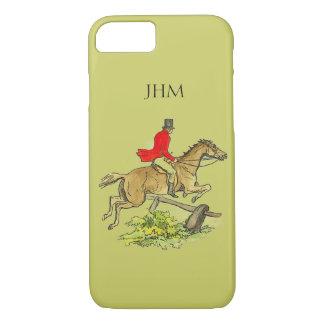 Fox Hunt Jumper Hunter Horse Custom Khaki Color iPhone 7 Case