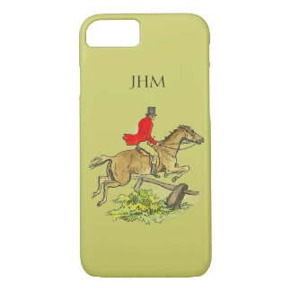 Fox Hunt Jumper Hunter Horse Custom Khaki Color iPhone 8/7 Case