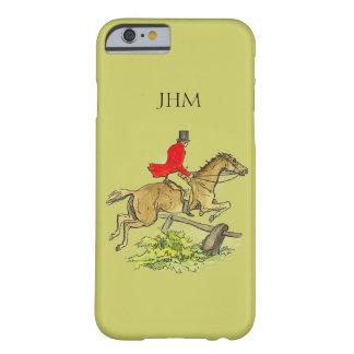 Fox Hunt Jumper Hunter Horse Custom Khaki Color iPhone 6 Case