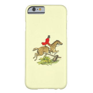 Fox Hunt Jumper Hunter Horse Riding Custom Color Barely There iPhone 6 Case