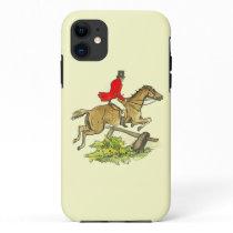 Fox Hunt Jumper Hunter Horse Riding Custom Color iPhone 11 Case