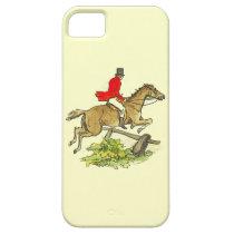 Fox Hunt Jumper Hunter Horse Riding Custom Color iPhone SE/5/5s Case