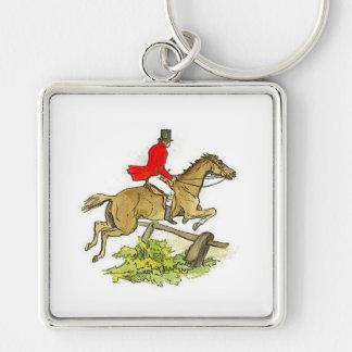 Fox Hunt Jumper Hunter Horse Riding Keychain