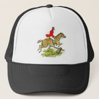 Fox Hunt Jumper Hunter Horseback Riding Trucker Hat