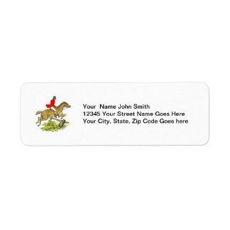 Fox Hunter Jumper Horse Equestrian Label