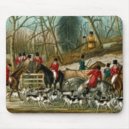 Fox Hunting 1 Mouse Pad