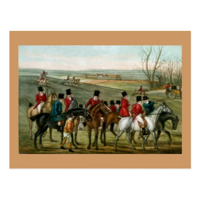 Fox Hunting 2 Postcard