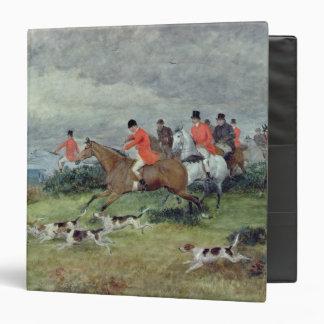 Fox Hunting in Surrey 19th century 3 Ring Binders