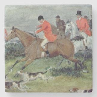 Fox Hunting in Surrey, 19th century Stone Coaster