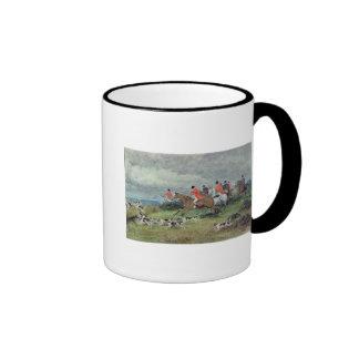 Fox Hunting in Surrey, 19th century Coffee Mugs
