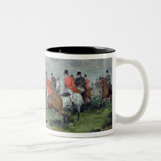 Fox Hunting in Surrey, 19th century Two-Tone Coffee Mug