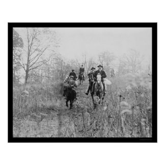 Fox Hunting in Virginia 1924 Poster