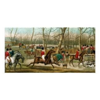 Fox Hunting Custom Photo Card