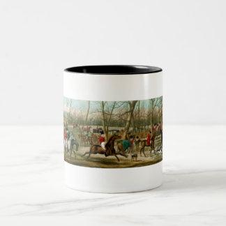 Fox Hunting Two-Tone Coffee Mug