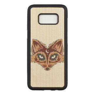 Fox Illustration Carved Samsung Galaxy S8 Case
