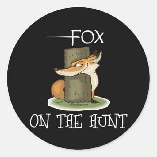 Fox Image Round Stickers