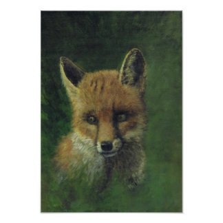 Fox in a wood poster