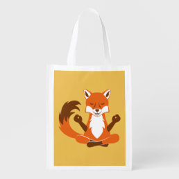 Fox in a yoga pose. grocery bag