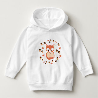 Fox in autumn hoodie