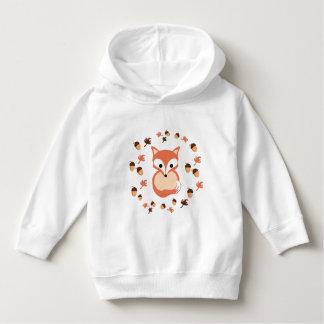 Fox in autumn hoodie