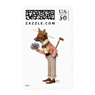 Fox in Boater Postage