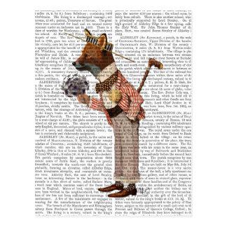 Fox in Boater Postcard