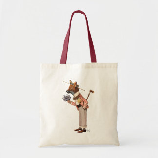 Fox in Boater Tote Bag