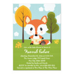 """FOX IN DIAPERS BABY SHOWER 5"""" X 7"""" INVITATION CARD"""