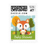 Fox in Diapers Baby Shower Postage Stamp